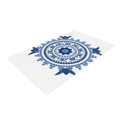 Carolyn Greifeld Bohemian Blue/White Area Rug Rug Size: 4 x 6