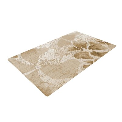 Catherine Holcombe Flower Power Map Brown Area Rug Rug Size: 2 x 3