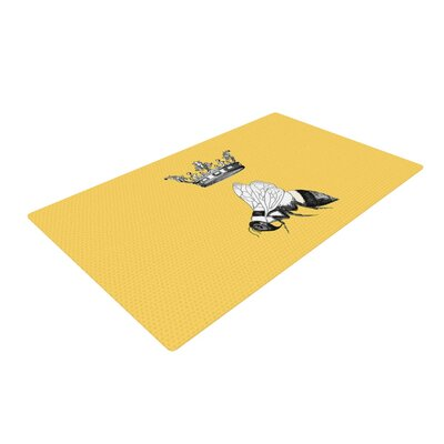 Catherine Holcombe Queen Bee Canary Yellow Area Rug Rug Size: 4 x 6