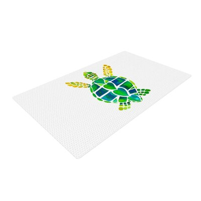 Catherine Holcombe Turtle Love Green/Teal Area Rug Rug Size: 4 x 6