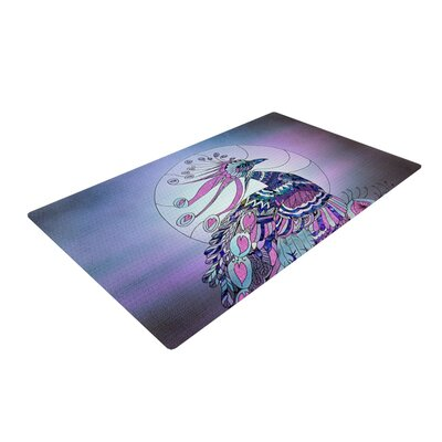 Catherine Holcombe Peacock Purple Area Rug Rug Size: 4 x 6