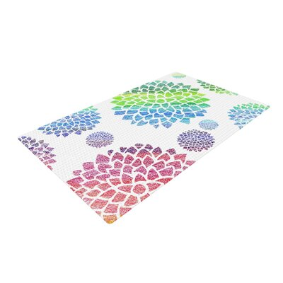 Catherine Holcombe Feel The Rainbow White Area Rug Rug Size: 2 x 3
