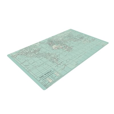 Catherine Holcombe the Old World Blue/Teal Area Rug Rug Size: 2 x 3