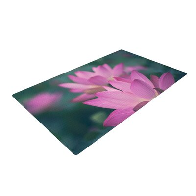 Catherine McDonald Hope for Tomorrow Pink/Green Area Rug Rug Size: 2 x 3