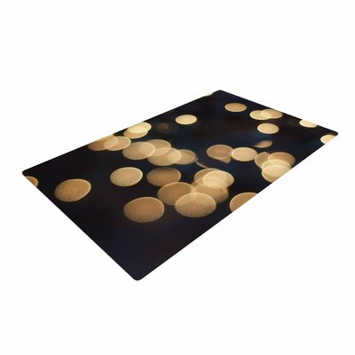 Cristina Mitchell Blurred Lights Black/Gold Area Rug Rug Size: 4 x 6