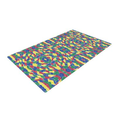 Empire Ruhl Energy Abstract Pattern Green/Yellow Area Rug Rug Size: 2 x 3