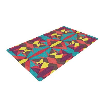 Empire Ruhl Abstract Insects Red/Blue Area Rug Rug Size: 4 x 6