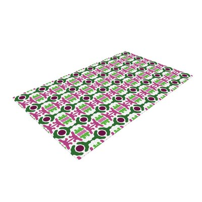 Empire Ruhl Island Dreaming Abstract Pink/Green Area Rug Rug Size: 4 x 6