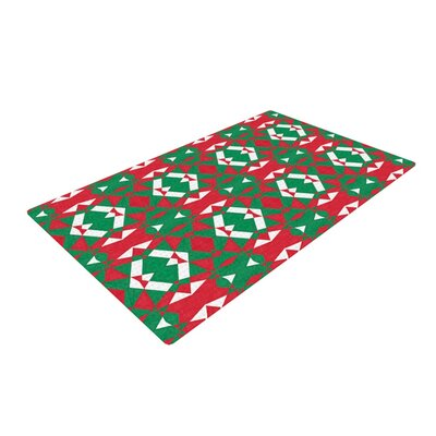 Empire Ruhl Christmas Geo Red/Green Area Rug Rug Size: 4 x 6