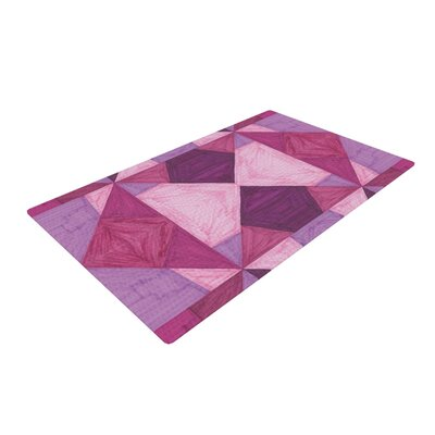 Empire Ruhl Angles Geometric Pink/Purple Area Rug Rug Size: 4 x 6