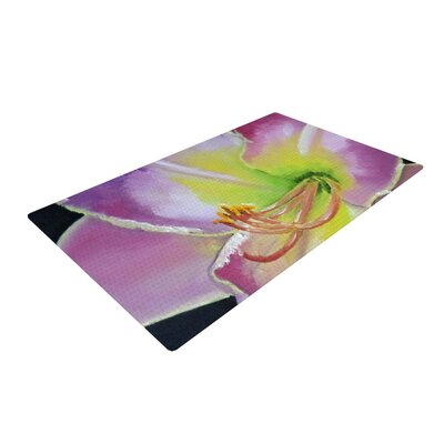 Cathy Rodgers Violet and Lemon Purple/Green Area Rug Rug Size: 4 x 6