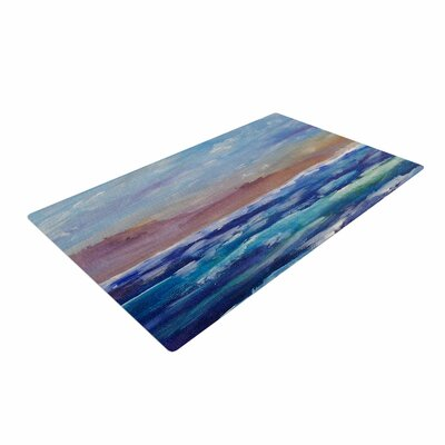 Cyndi Steen Beach Dreams Blue/Brown Area Rug Rug Size: 4 x 6