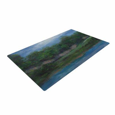 Cyndi Steen a Cooler View Blue/Green Area Rug Rug Size: 2 x 3