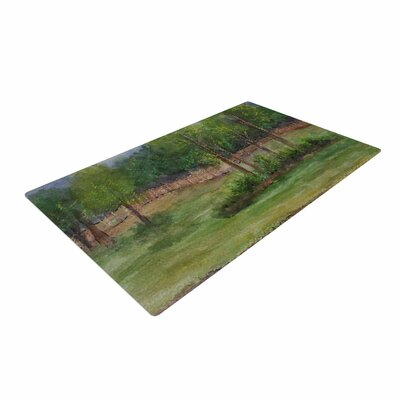 Cyndi Steen a Storm at the Strand Travel Green Area Rug Rug Size: 4 x 6