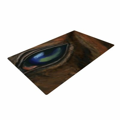 Cyndi Steen Arabian Eye Animals Brown Area Rug Rug Size: 4 x 6