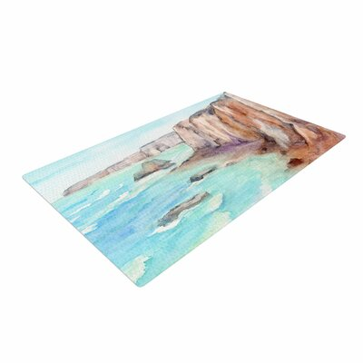 Cyndi Steen Cliffs at Normandie Travel Blue Area Rug Rug Size: 4 x 6