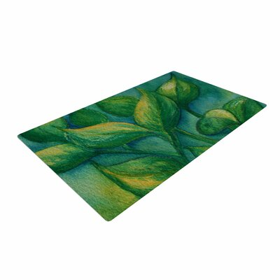 Cyndi Steen Beginnings Green/Nature Area Rug Rug Size: 2 x 3