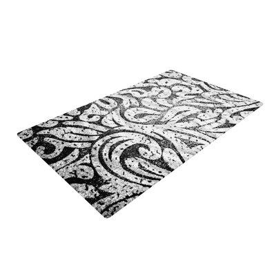 Alveron Monochrome Paisley Black/White Area Rug