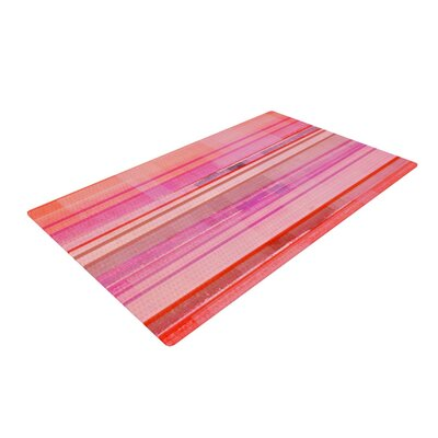 CarolLynn Tice Starwberry Shortcake Stripes Pink Area Rug Rug Size: 2 x 3