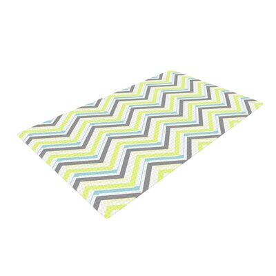 CarolLynn Tice Ideal Gray/Yellow Area Rug Rug Size: 2 x 3