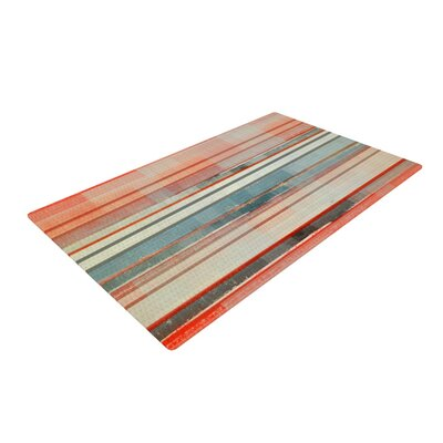 CarolLynn Tice Patton Orange/Teal Area Rug Rug Size: 2 x 3