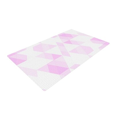 CarolLynn Tice Aspire Geometric Pink/White Area Rug Rug Size: 4 x 6