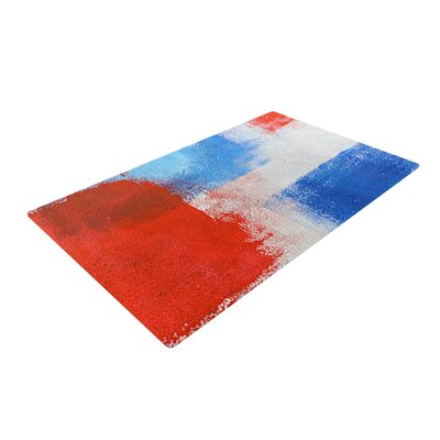 CarolLynn Tice the Colors Red/Blue Area Rug Rug Size: 2 x 3