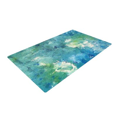 CarolLynn Tice Sporatically Teal/Green Area Rug Rug Size: 4 x 6