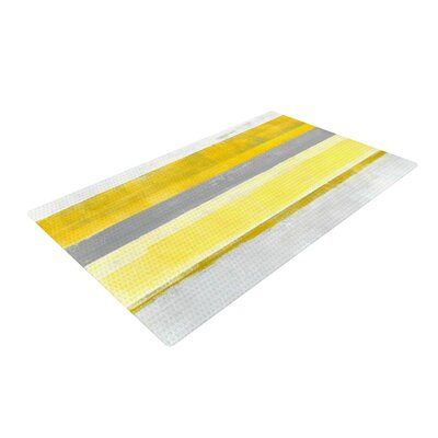 CarolLynn Tice Lemon Yellow/Gray Area Rug Rug Size: 2 x 3