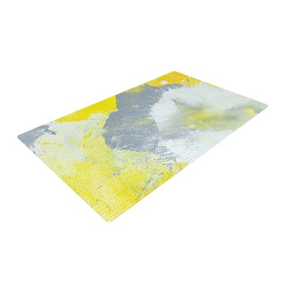 CarolLynn Tice Make a Mess Yellow/Gray Area Rug Rug Size: 2 x 3