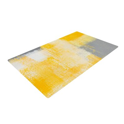CarolLynn Tice Breakfast Gray/Gold Area Rug Rug Size: 4 x 6