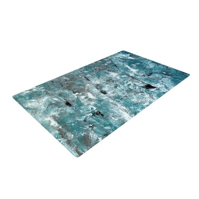 CarolLynn Tice Shuffling Teal/Blue Area Rug Rug Size: 4 x 6