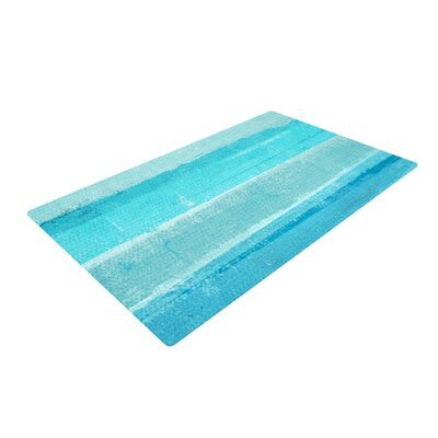 CarolLynn Tice Sand Bar Teal/Blue Area Rug Rug Size: 2 x 3