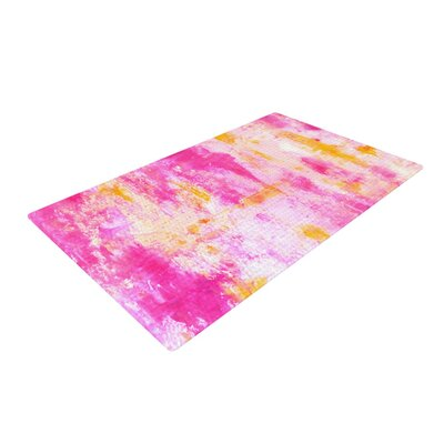 CarolLynn Tice Fancy Pink/Yellow Area Rug Rug Size: 4 x 6