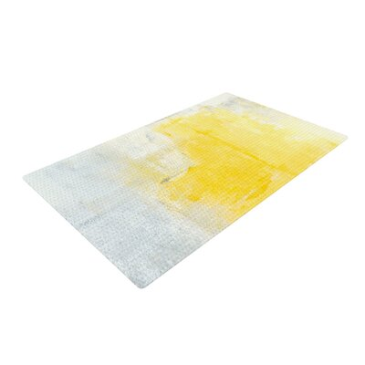 CarolLynn Tice Stability Yellow/White Area Rug Rug Size: 2 x 3