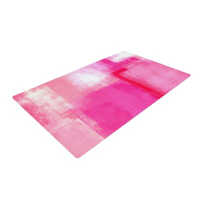 CarolLynn Tice Running Late Pink/White Area Rug Rug Size: 4 x 6