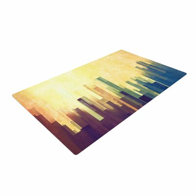Cvetelina Todorova Cloud City Yellow/Purple Area Rug Rug Size: 4 x 6