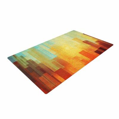 Cvetelina Todorova Urban Sunset Geometric Teal Area Rug Rug Size: 4 x 6