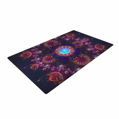 Cvetelina Todorova Royal Jewels Purple/Blue Area Rug Rug Size: 4 x 6