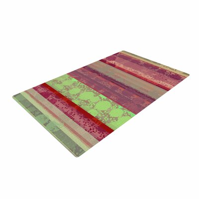 Cvetelina Todorova Magic Carpet Green/Maroon Area Rug Rug Size: 2 x 3