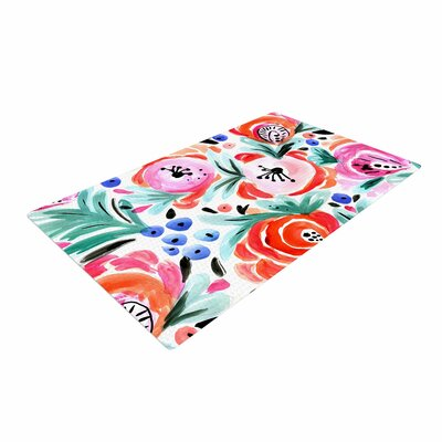 Crystal Walen Boho Morning Glory Pink/Orange Area Rug Rug Size: 2 x 3