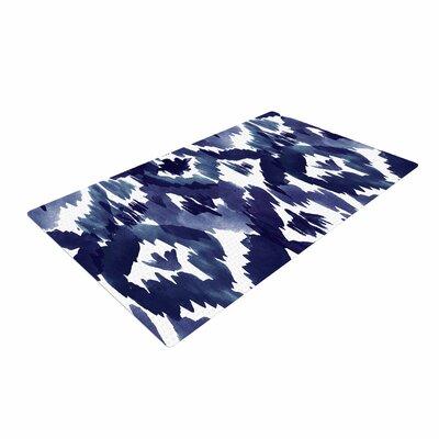 Crystal Walen Ikat Indigo Area Rug Rug Size: 4 x 6