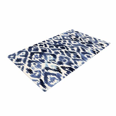 Crystal Walen Leopard Tribal Watercolor Indigo Area Rug Rug Size: 2 x 3