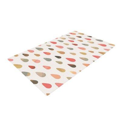 Daisy Beatrice Opal Drops Dusk Peach/White Area Rug Rug Size: 2 x 3