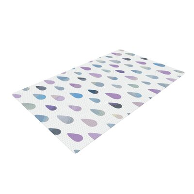 Daisy Beatrice Opal Drops Mist Purple/White Area Rug Rug Size: 2 x 3