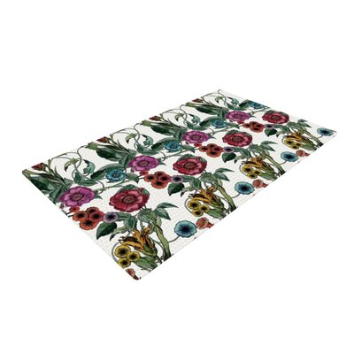 DLKG Design Margaret White/Green Area Rug Rug Size: 2 x 3