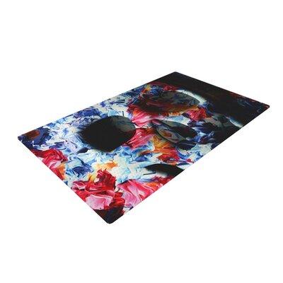 Danny Ivan Skull Light Blue/Pink Area Rug Rug Size: 4 x 6