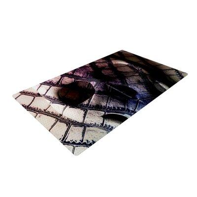 Danny Ivan Skull Dark Purple Area Rug Rug Size: 2 x 3
