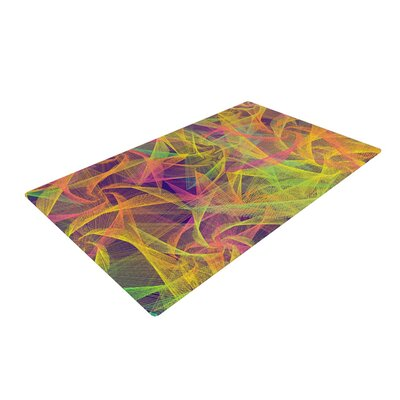 Danny Ivan Blend Everywhere Abstract Yellow Area Rug Rug Size: 2 x 3