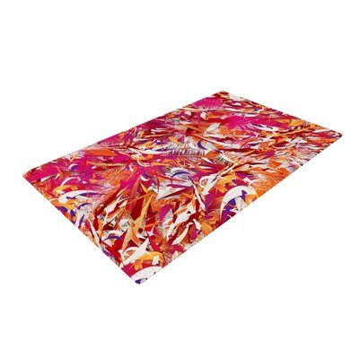 Danny Ivan You Red/Pink Area Rug Rug Size: 2 x 3
